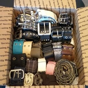BOX OF BELTS | Various Styles